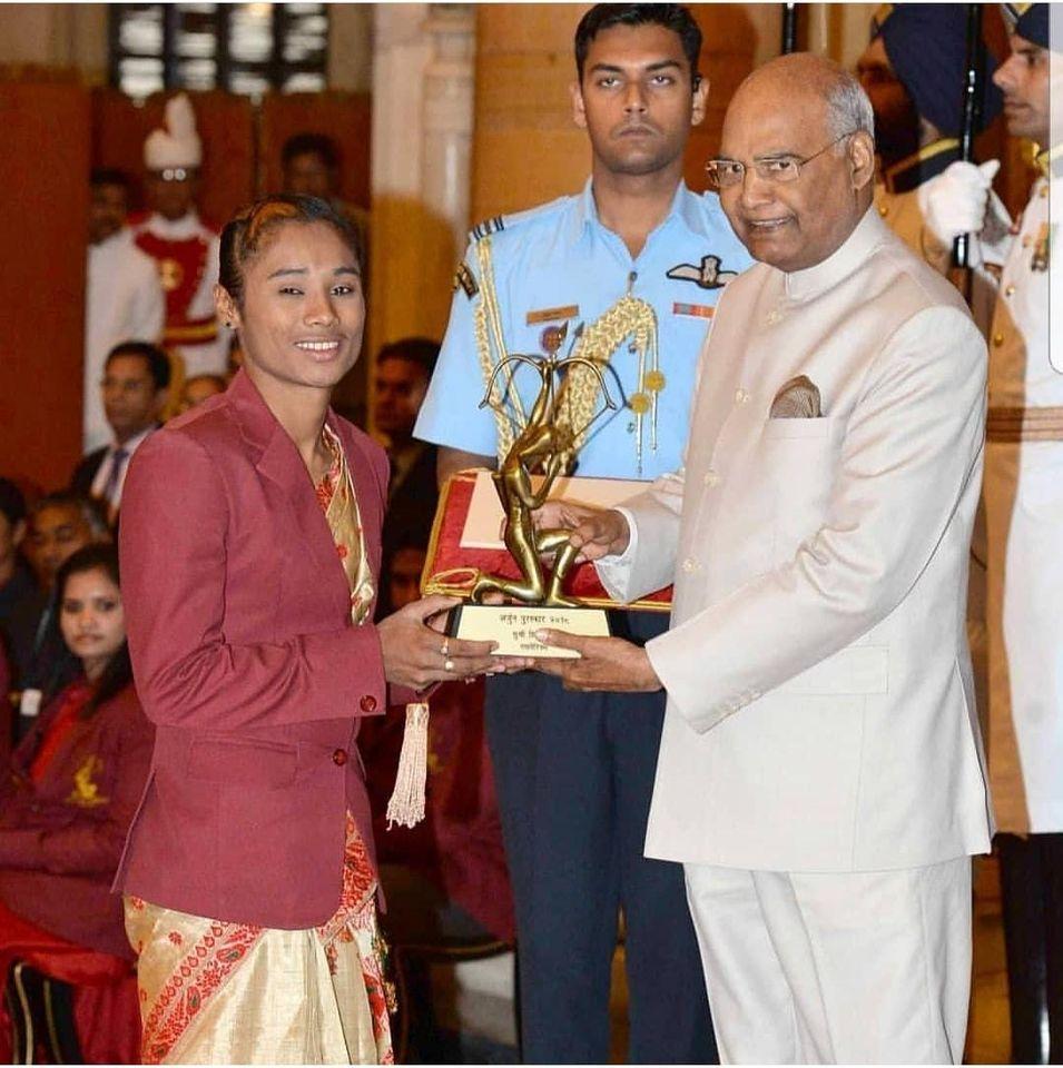 Hima Das Arjuna Award by President Kovind