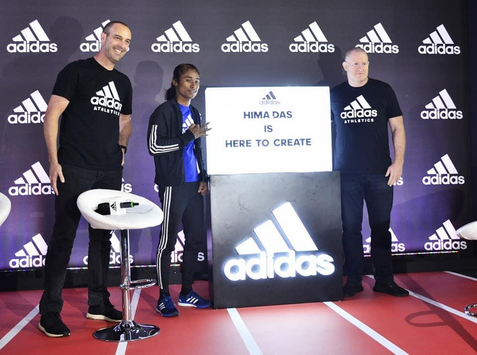 Hima Das brand ambassador Adidas