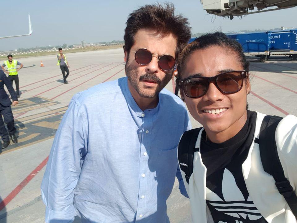Hima Das with Anil Kapoor