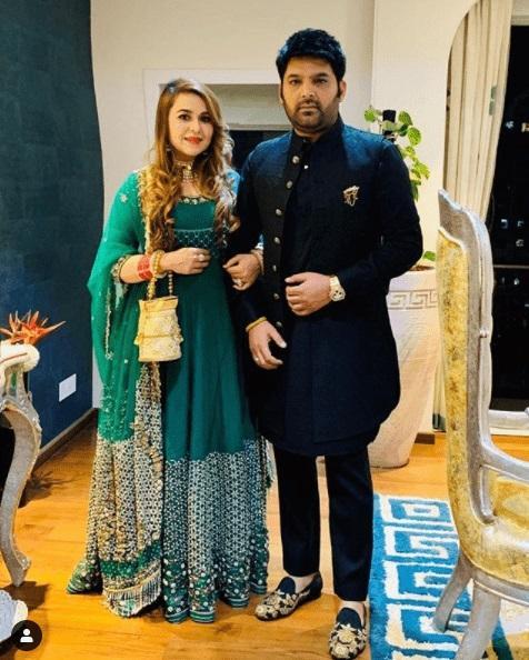 Kapil Sharma with his wife Ginni Chatrath