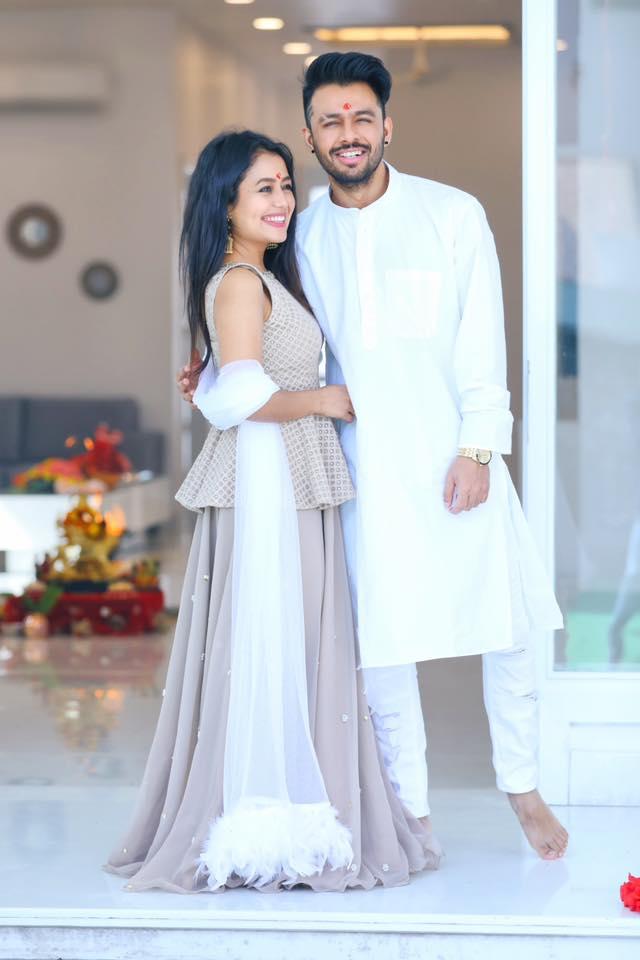 Neha Kakkar with her brother (Tony kakkar)