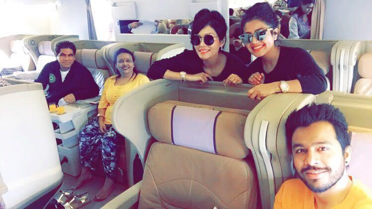 Neha Kakkar with her family