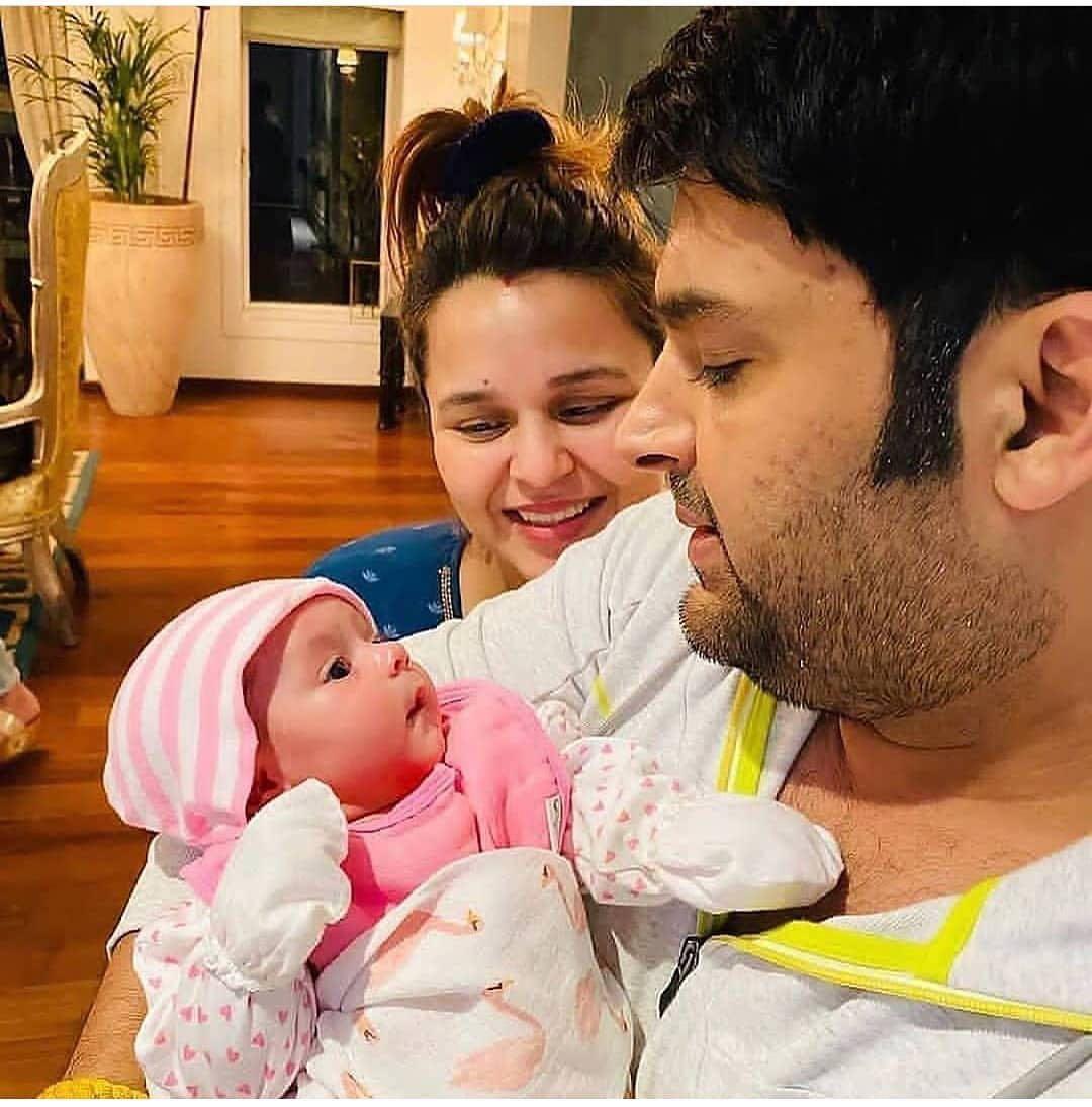 kapil Sharma with baby Anayra Sharma