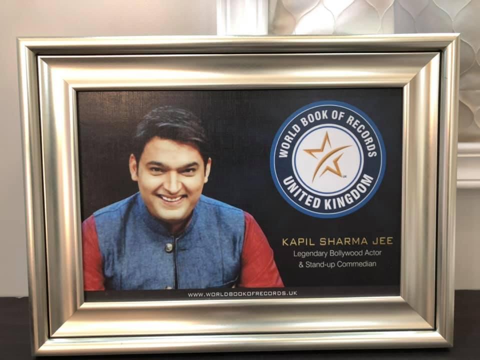 world book of records Kapil Sharma