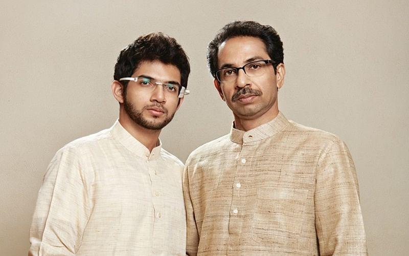 Aditya Uddhav Thackeray with his father Uddhav Thackeray