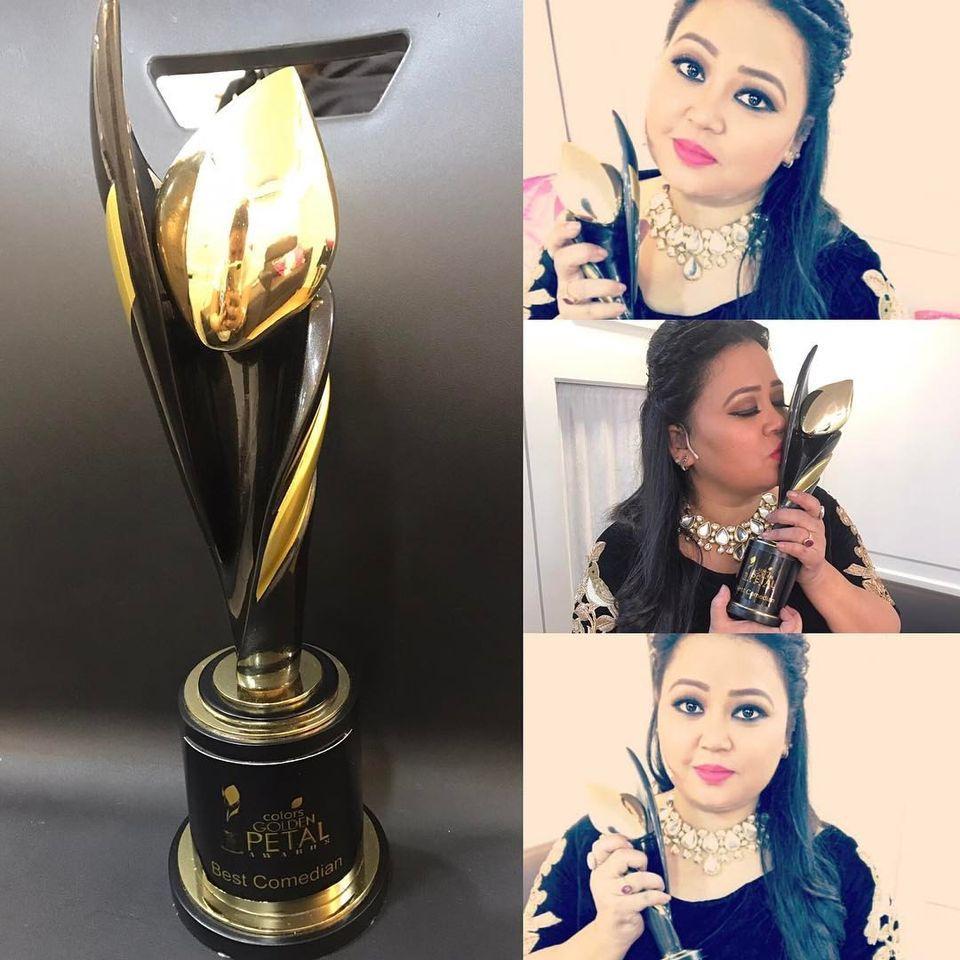 Bharti Singh with golden Petal award