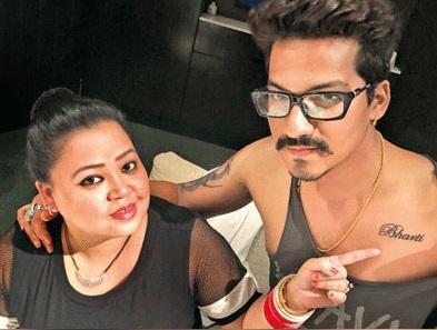 Haarsh Limbachiya gets Bharti name Tattoo on his chest