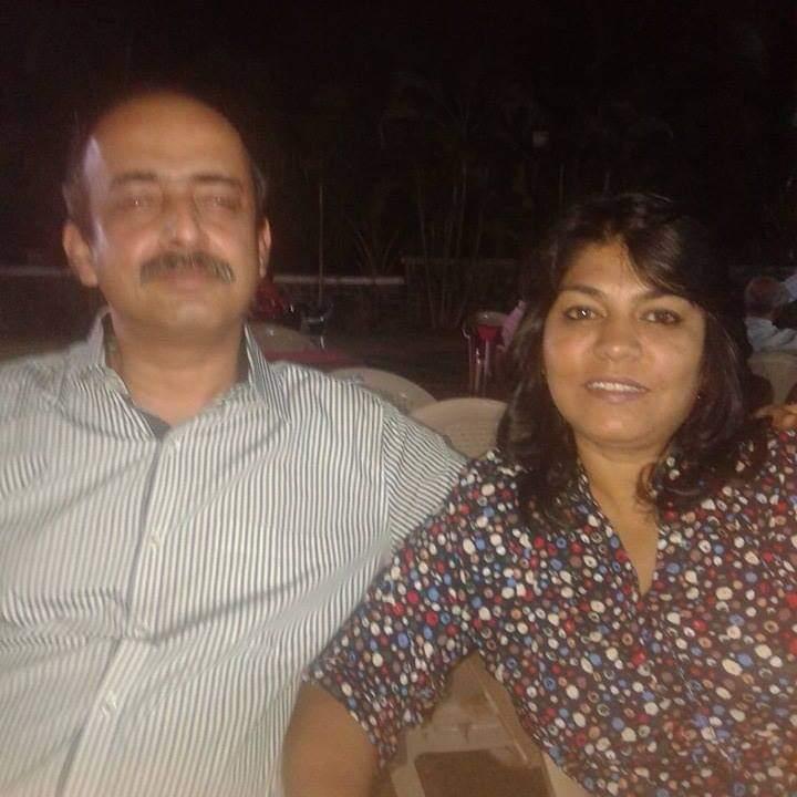 Indrajit Chakraborty with his wife Sandhya Chakraborty