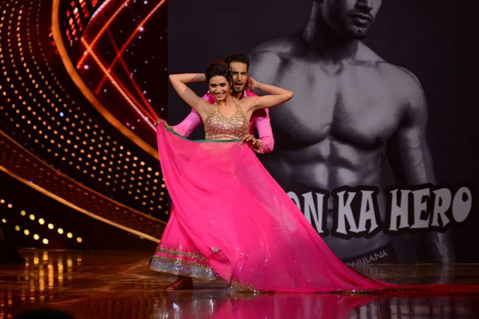 Karishma Tanna Nach Baliye 7 with her boyfriend Upen Patel