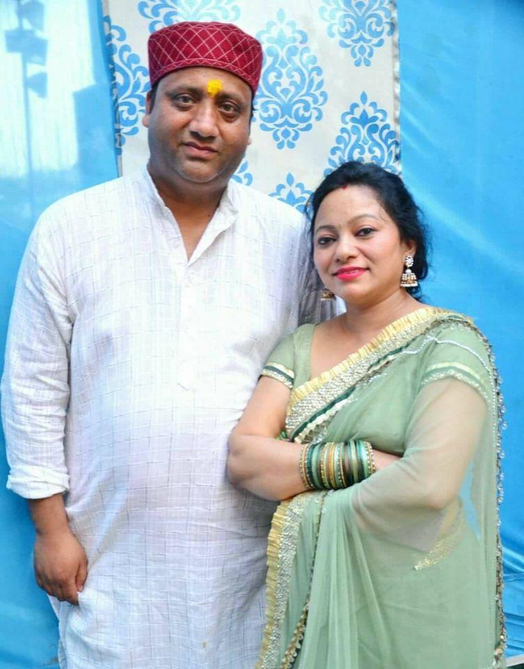 Meena Rana with her Husband Sanjay Kumola
