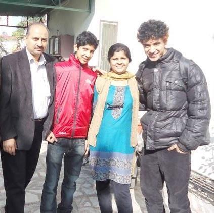 Raghav Juyal with his Family