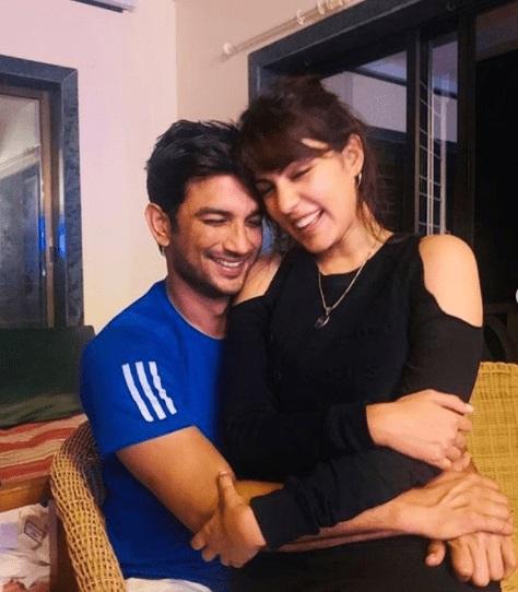 Rhea Chakraborty with Sushant Singh Rajput