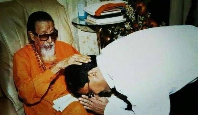 Sanjay Raut with Bal Thackeray