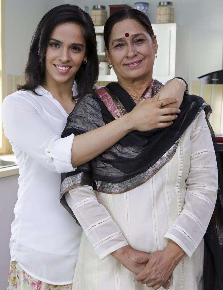 Saina Nehwal with her mother Usha Rani Nehwal