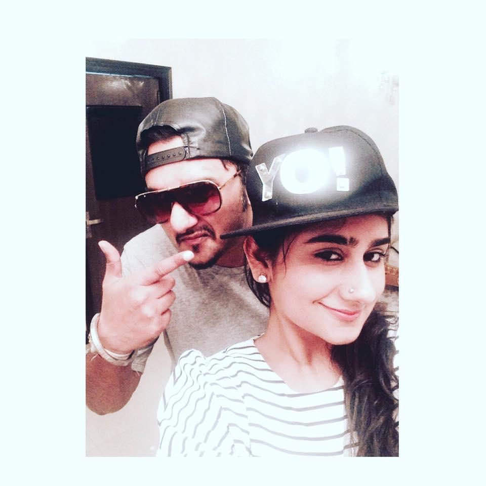 Sneha Singh with Honey Singh