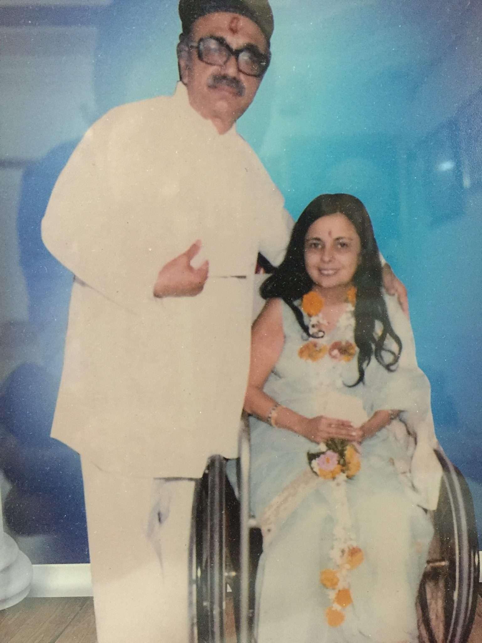 Bejan Daruwalla with his wife Late Gooli Daruwalla