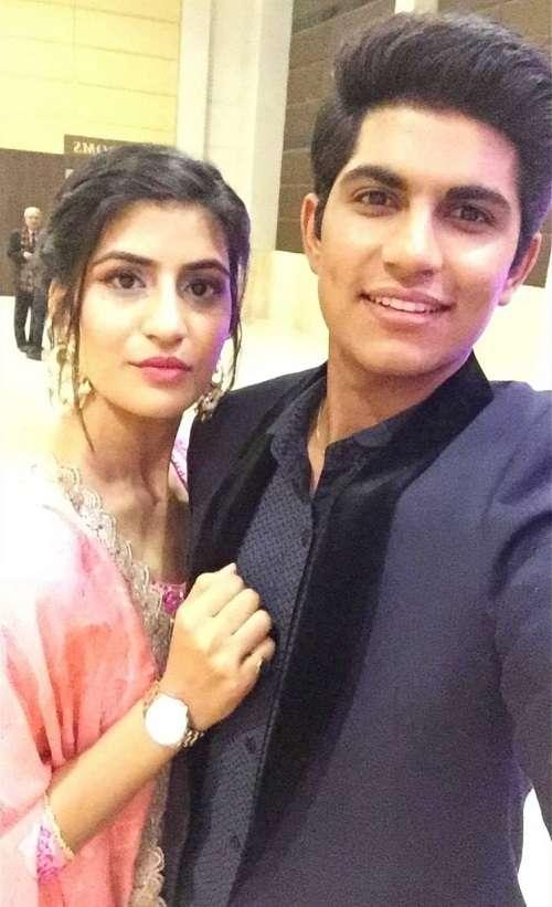 Shubman gill with his sister Shahneel Kaur Gill