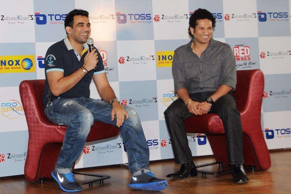 Zaheer khan with Sachin Tendulkar