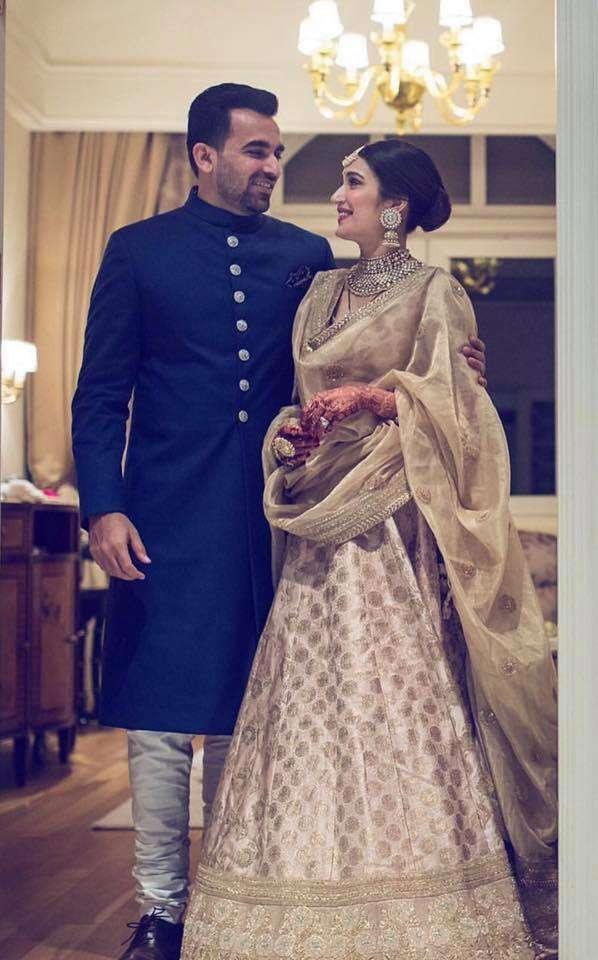 Zaheer khan with his wife Sagarika Ghatge