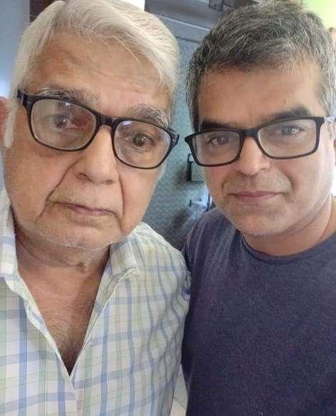 Atul khatri with his father Naraindas Khatri