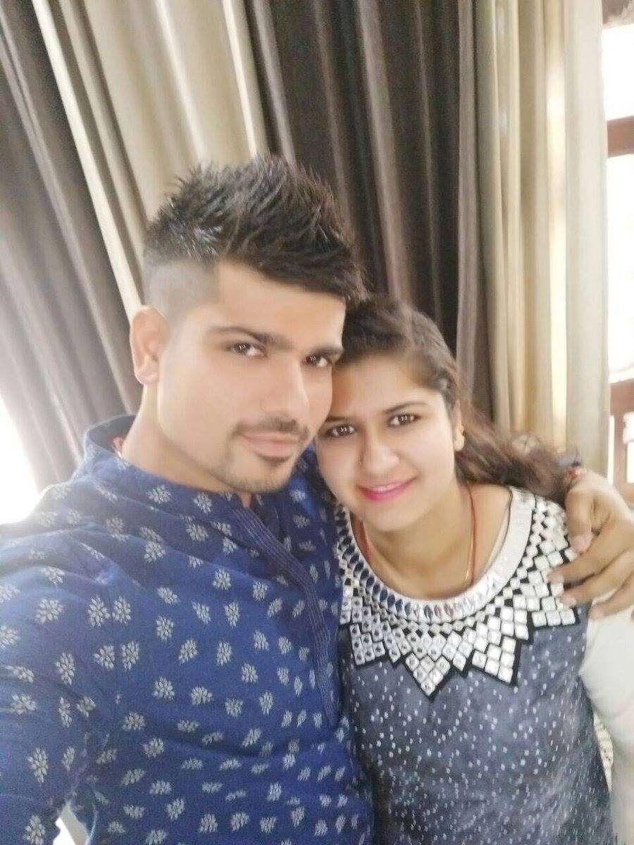 Karn Sharma with his sister Kritika Sharma