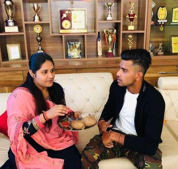 Shivam Mavi with his sister