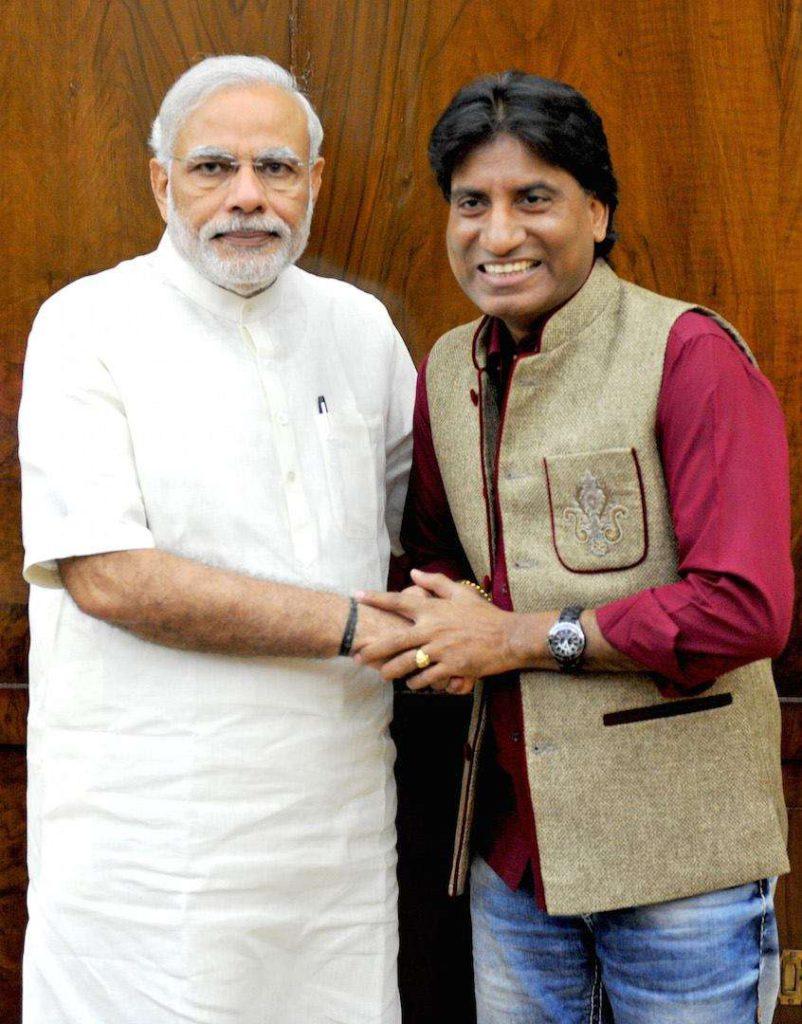 Raju Srivastav with Narendra Modi