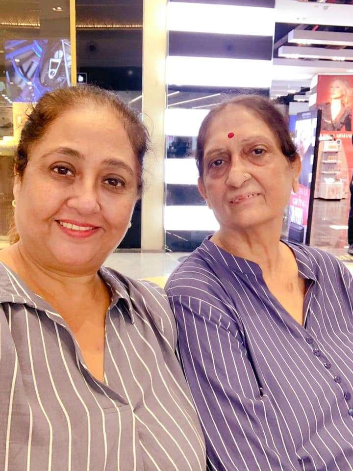 Swetta Jumaani with her mother