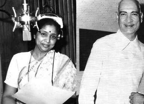 Asha Bhosle and O P Nayyar