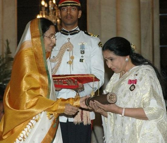 Asha received Padma Vibhushan in 2008