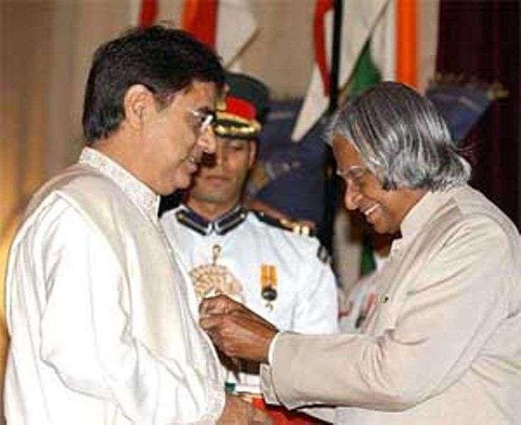 Jagjit Singh designation with Padma Bhushan Award