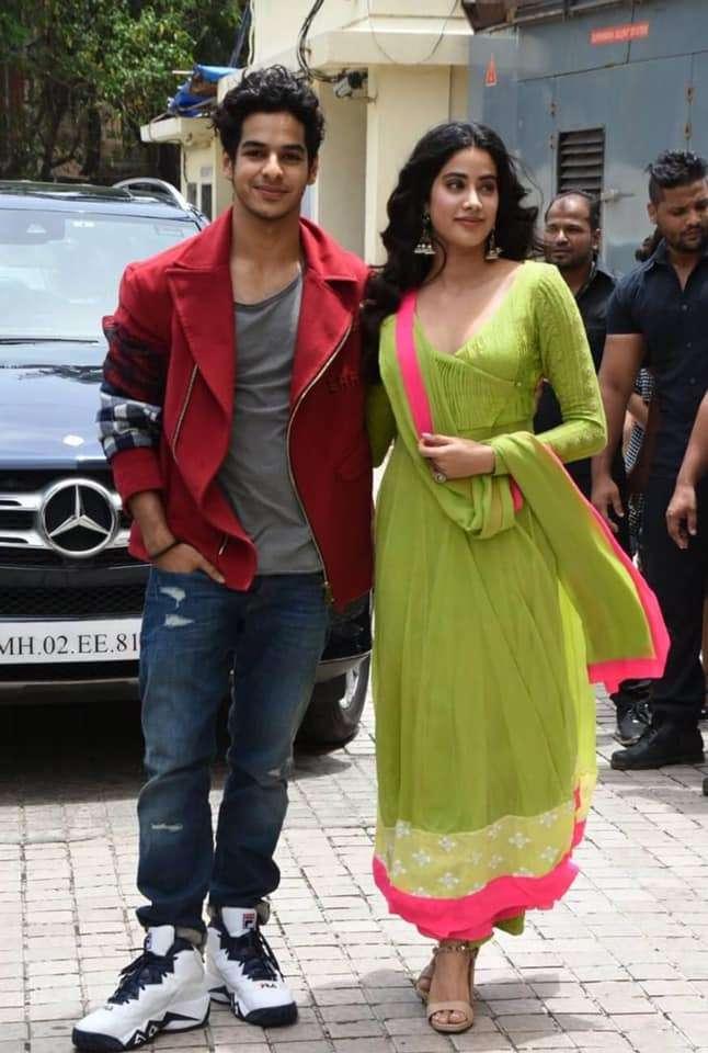 Janhvi Kapoor with Ishaan Khatter