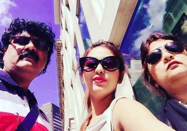 Pamela Goswami with his Parents (Prabir Mandal and Manika Mandal)