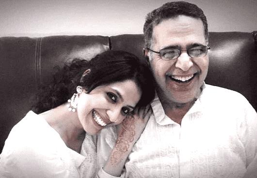 RJ Sayema with her father Harish Rahman