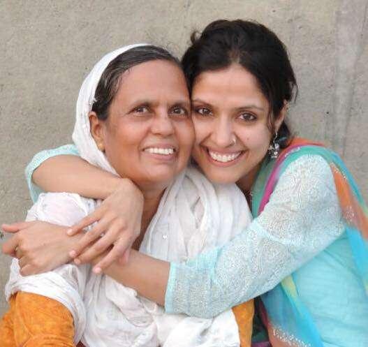 RJ Sayema with her mother Meena Rahman