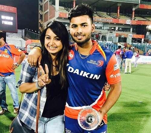 Rishabh Pant with his sister