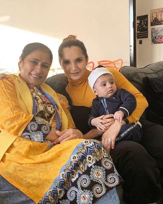 Sania Mirza with her Mother Nasim Mirza