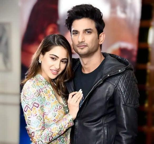 Sara Ali Khan and Late Sushant Singh Rajput
