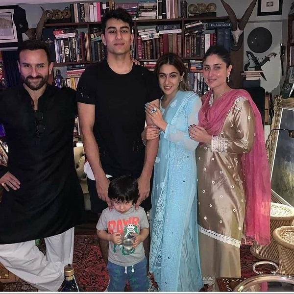 Sara Ali Khan with his family