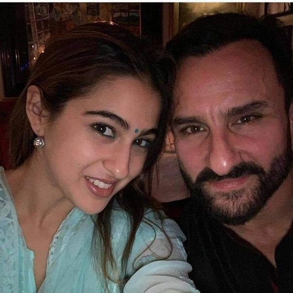 Sara Ali Khan with his father Saif Ali Khan
