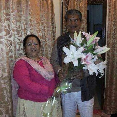 Harish Rawat with his wife Renuka Rawart