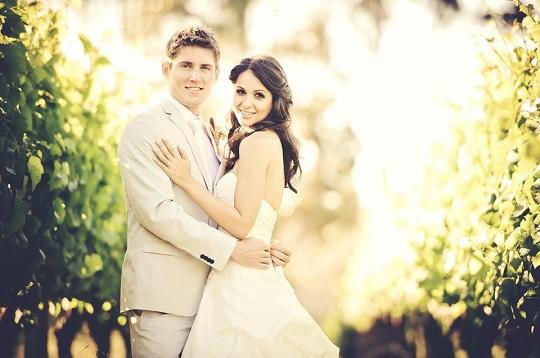Matthew Ebden with his wife Kim Doig