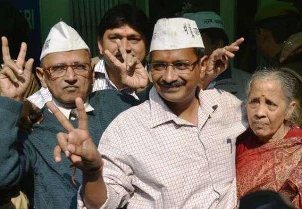 Arvind Kejriwal with his Parents