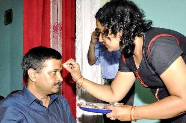 Arvind Kejriwal with his sister Ranjana